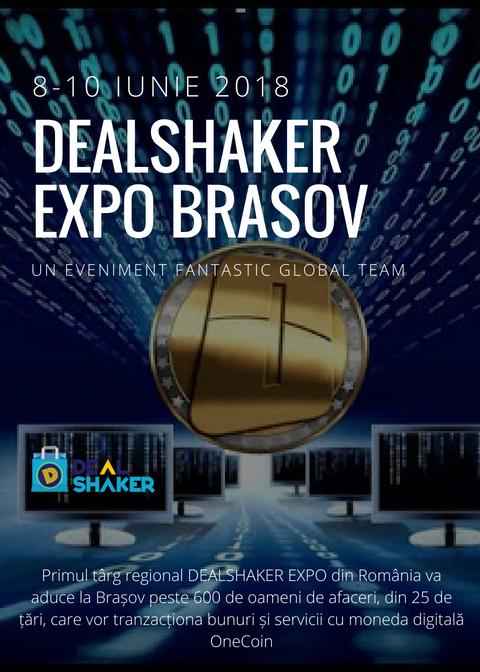 DealShaker Expo Brașov. Ultimele pregătiri pentru primul târg regional OneCoin din România banner nou