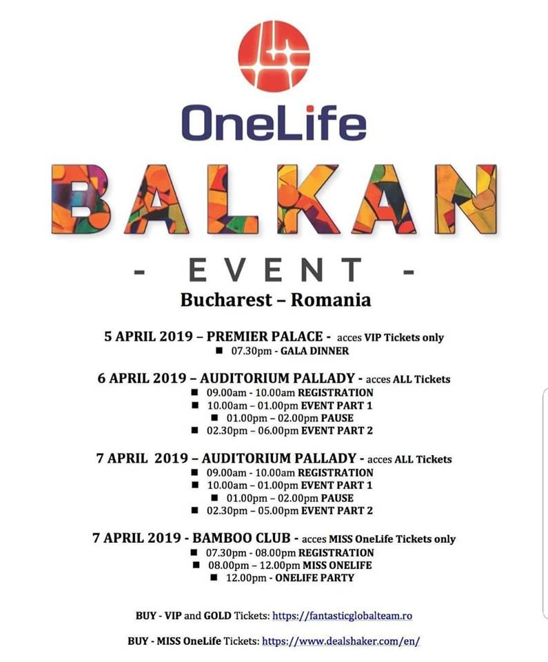 OneLife Balkan Event. 300 de oameni de afaceri din întreaga lume vin la București onelife balkan event OneLife Balkan Event. 300 de oameni de afaceri din întreaga lume vin la București 54514680 2242409295808700 9099612391011778560 n