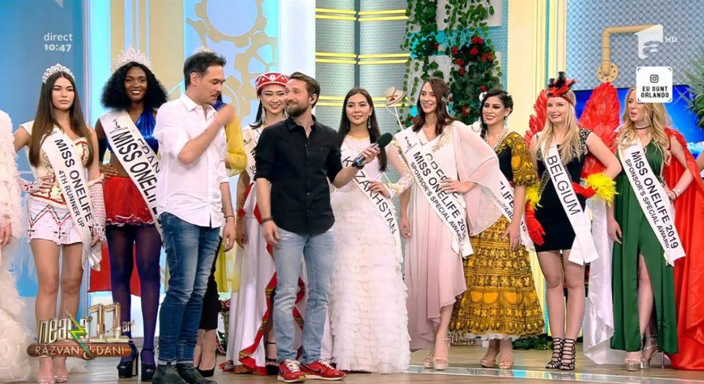 Miss OneLife, la Antena1. Prima competiție internațională de frumusețe organizată vreodată în București ion23 1024x559
