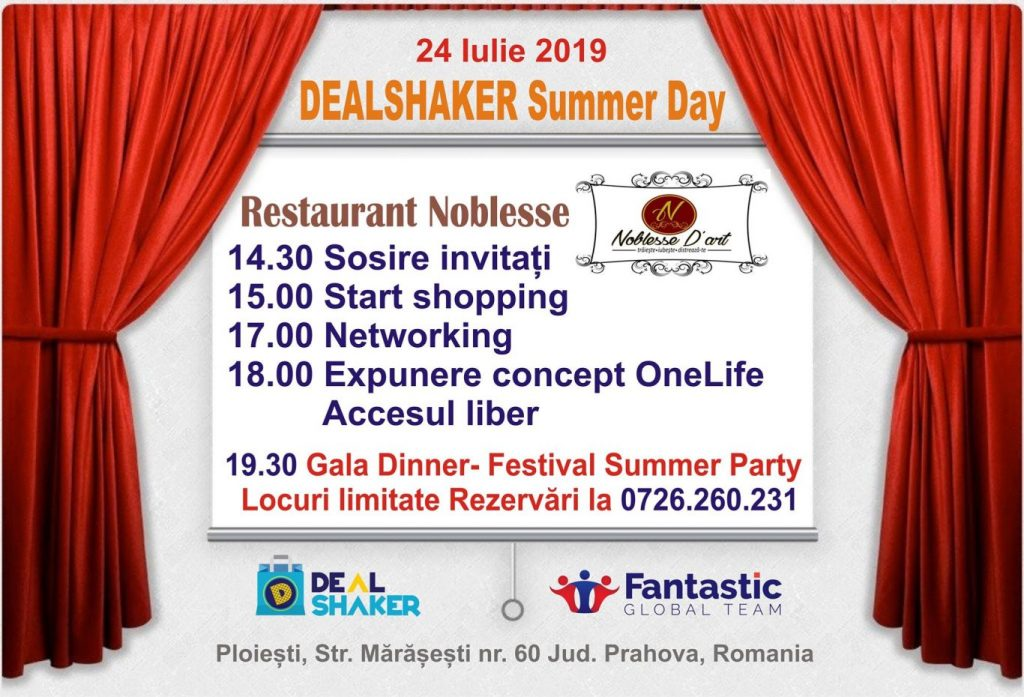 dealshaker summer day DealShaker Summer Day – Partenerii OneLife, la Ploiești 66896148 1793772277392219 6655624692184907776 n 1024x697