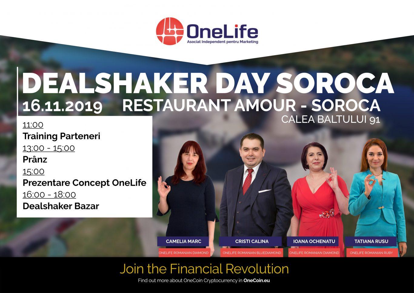 dealshaker day soroca OneLife Business Tour Moldova. Sute de comercianți, așteptați la DealShaker Day Soroca Banner Soroca