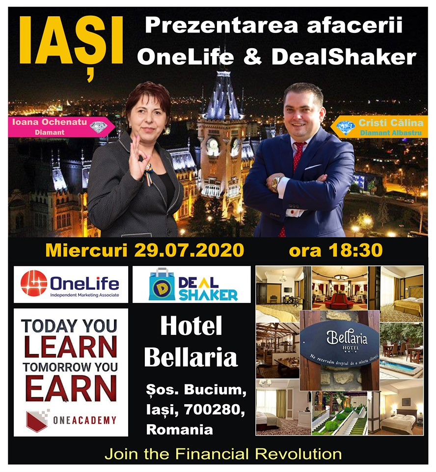 Iasi DealShaker Business Days. Oamenii de afaceri din Moldova, invitați să descopere oportunitățile OneLife & Dealshaker 116154105 3355325484517070 3799523774010078547 n