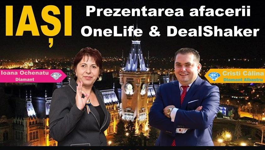 Iasi DealShaker Business Days. Oamenii de afaceri din Moldova, invitați să descopere oportunitățile OneLife & Dealshaker cristiioana