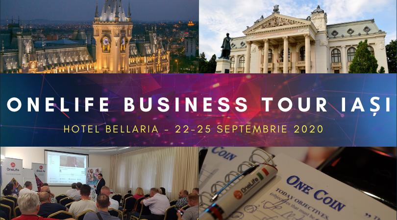 OneLife Business Tour Iași. Vino să descoperi avantajele DealShaker & OneCoin iasi