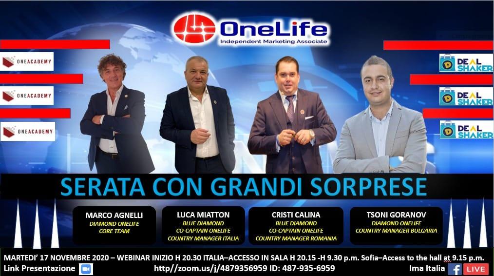 OneLife Webinar Romania & Italia & Bulgaria. Noi informații despre ecosistemul DealShaker 125533101 3693830090666606 3341672275307746900 o