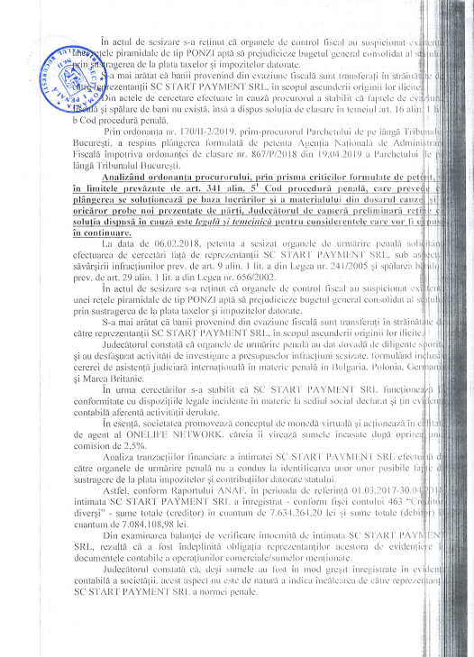 Tribunalul București confirmă legalitatea business-ului OneLife România msedge dzoWudOK05