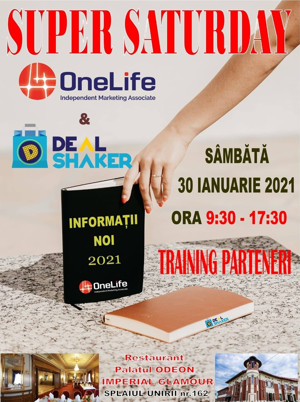 Super Saturday. Primul training integrat OneLife & Dealshaker din 2021 143077011 3883285011721112 7671101694367386565 o